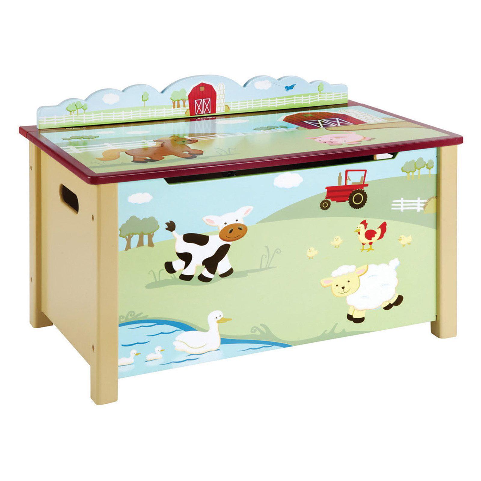 Guidecraft Farm Friends Toy Box, Green
