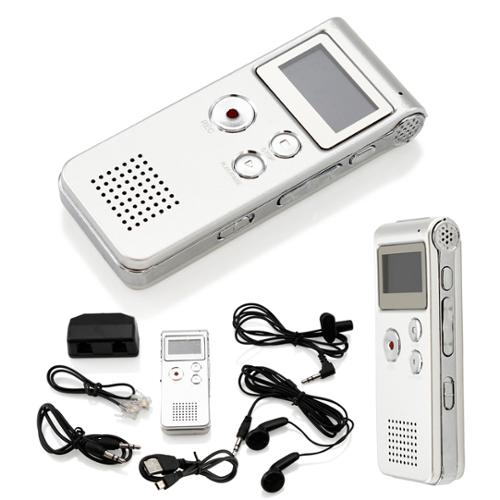 8GB Digital Voice Recorder Rechargeable 650Hr Dictaphone Telephone Portable MP3 Player