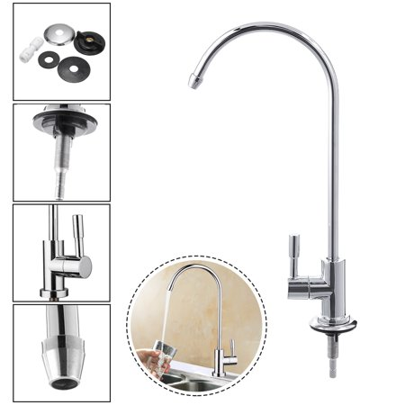360° 1/4'' Stainless Steel Kitchen Sink Faucet Tap Chrome Reverse Osmosis RO Drinking Water Filter Faucet Tap (kitchen sink water filter faucet)
