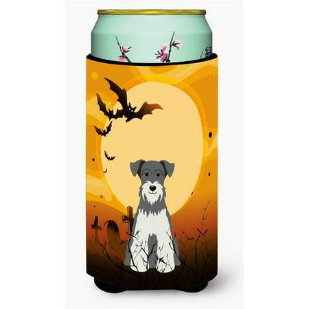Halloween Miniature Schanuzer Salt & Pepper Tall Boy Beverage Insulator Hugger - Salt And Pepper Dog Halloween Costumes
