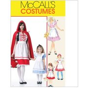 McCall's Misses', Children's and Girls' Storybook Costumes, Miss (S, M, L, XL)