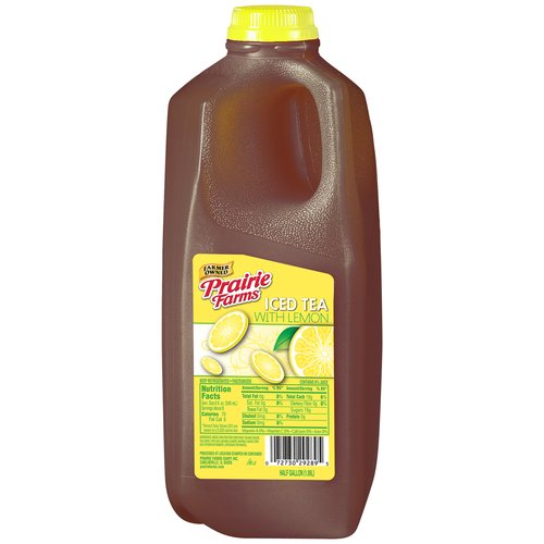 Prairie Farms Lemon Iced Tea , Half Gallon