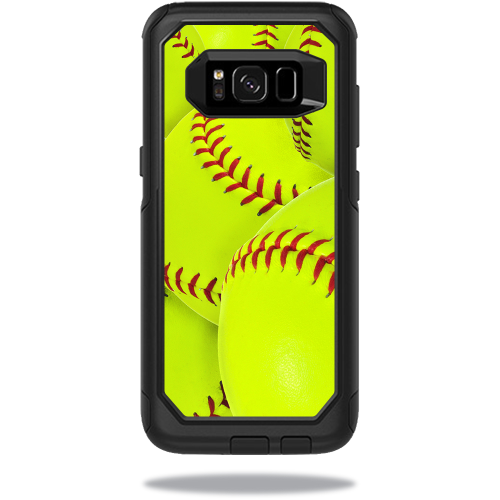 MightySkins Protective Vinyl Skin Decal for OtterBox CommuterSamsung Galaxy S8 Case sticker wrap cover sticker skins Softball Collection