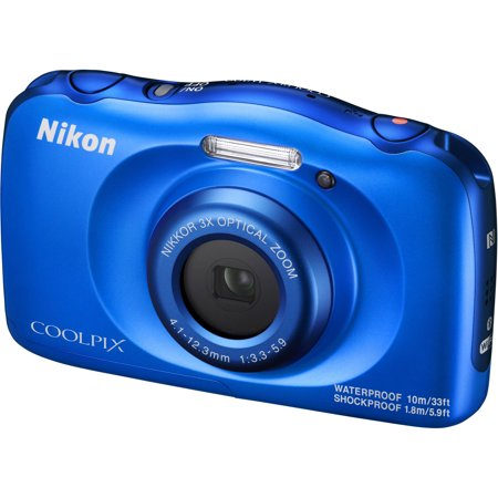 Nikon Coolpix W100 Wi-Fi Shock + Waterproof Digital Camera (Blue)