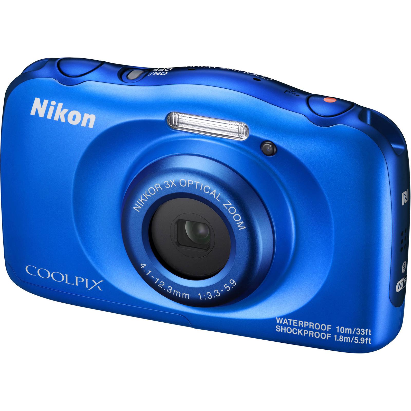 Nikon Coolpix W100 Wi-Fi Shock & Waterproof Digital Camera (Blue)
