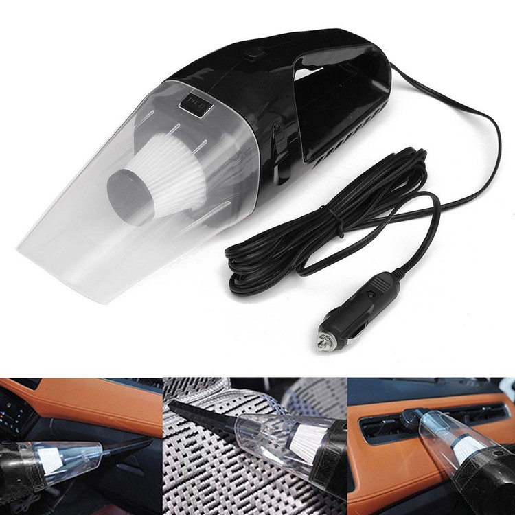 Portable 12V-120W Mini Handheld Vacuum Cleaner Dirt Dust Cleaner