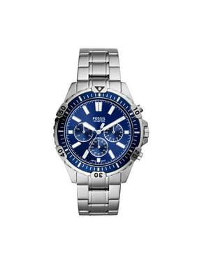 Fossil Men's Garrett Chronograph Silver-Tone Stainless Steel Watch (FS5623)