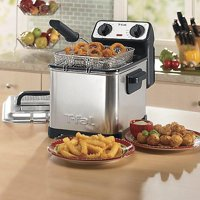 T-fal FR4049 Family Pro 3-Liter Oil Capacity Electric Deep Fryer with Stainless Steel Waffle 2.6-Pound Silver