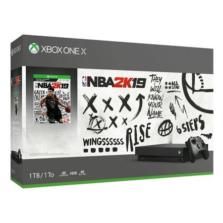 Walmart: Microsoft Xbox One X 1TB NBA 2K19 Bundle Only $371.06 (Was $500)