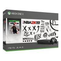 Microsoft Xbox One X 1TB NBA 2K19 Bundle, Black, CYV-00070