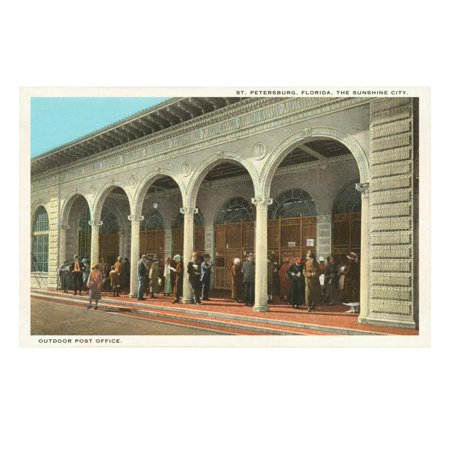 Outdoor Post Office, St. Petersburg, Florida Print Wall Art ()