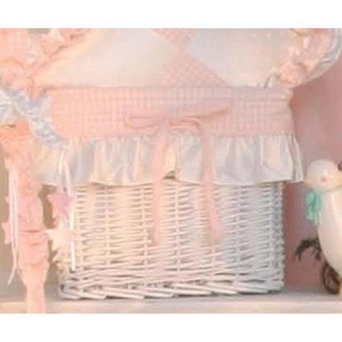 Brandee Danielle Princess Pink Wicker Basket