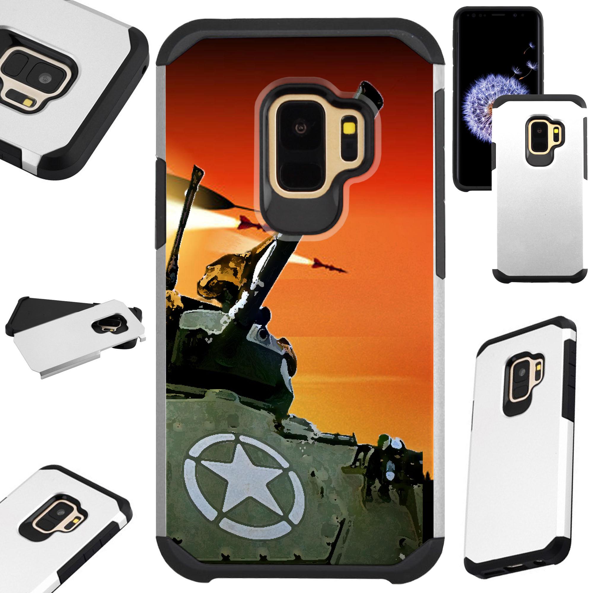For Samsung Galaxy S9 Plus / Samsung Galaxy S9+ Case Hybrid TPU Fusion Phone Cover (War Tank)