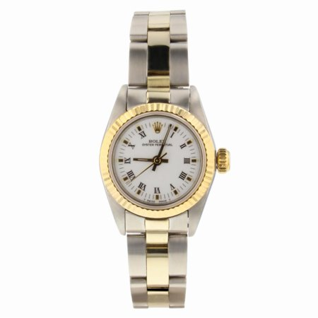 Rolex Oyster Perpetual 67193 Two Tone Women Watch (Certified Authentic &