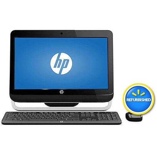 "HP Black Omni Refurbished 120-1333w All-in-One Desktop PC with AMD Fusion E1-1200 Processor, 4GB Memory, 20.5"" Monitor, 500GB Hard Drive and Windows 8 64-Bit"