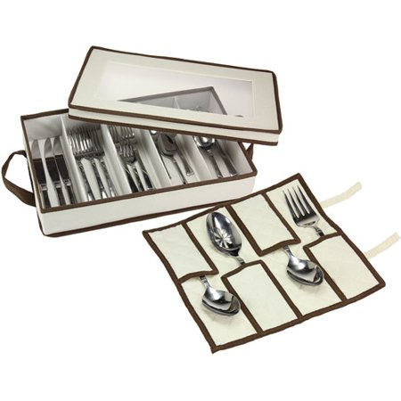 - Household Essentials Canvas Flatware Chest
