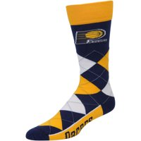 Indiana Pacers For Bare Feet Argyle Crew Socks - No Size