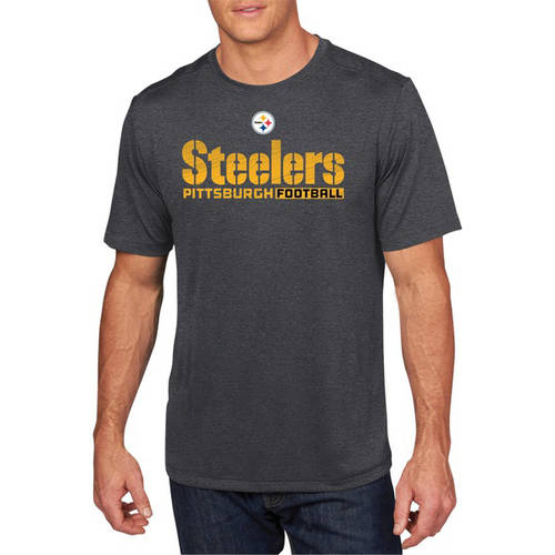 NFL Big Men's Pittsburgh Steelers Synthetic Tee, 2XL