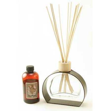 Clear 6 Ounce Figi Reed Diffuser With Metal Stand   8 Ounces Of Fragrance   Courtneys Candles   Lavendar Breeze