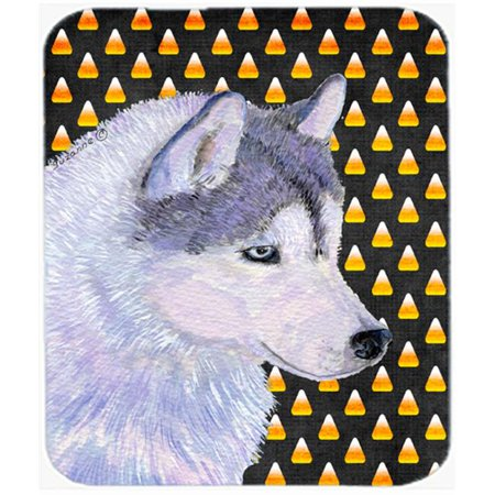 Siberian Husky Candy Corn Halloween Portrait Mouse Pad, Hot Pad Or - Halloween Desktop