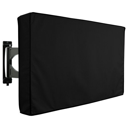 Weatherproof Tv (TV Cover Outdoor Black Series Universal Weatherproof Protector for 65'' 70'' TV )