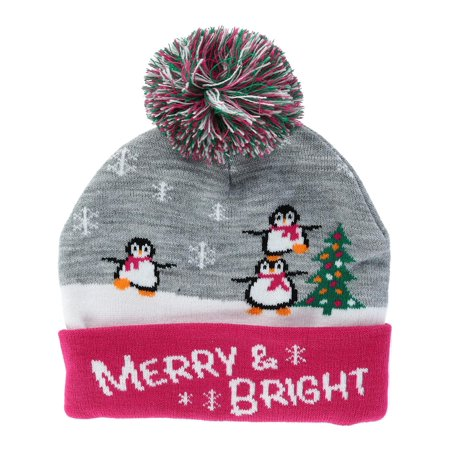 Kids' Winter Themed Cuff Beanie Cap with Pom (Winter Themed Prom)