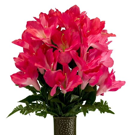 Beauty Amaryllis, Artificial Bouquet, featuring the Stay-In-The-Vase Design(c) Flower Holder (MD2079)](Beauty And The Beast Flower Vase)