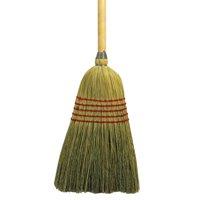 """Boardwalk Parlor Broom, Yucca/Corn Fiber Bristles, 55.5"""", Wood Handle, Natural -BWK926YEA"""