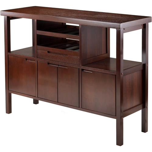 Winsome Diego Buffet Cabinet Side Board, Walnut