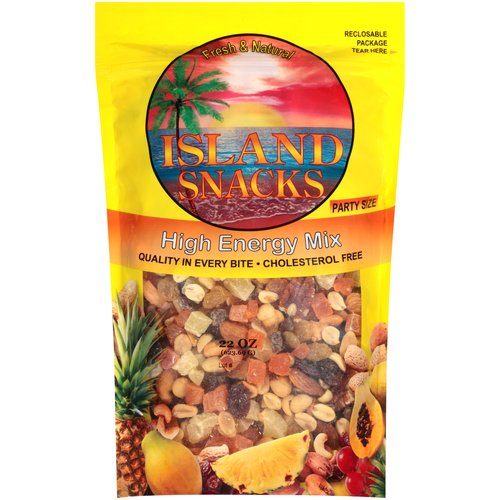 Island Snacks Cholesterol-Free High Energy Snack Mix, 22 Oz.