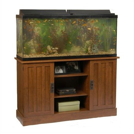 ameriwood industries 55 gallon aquarium stand in heirloom