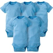 Newborn Baby Boy Short Sleeve Crafting Onesies Bodysuits, 5-pack