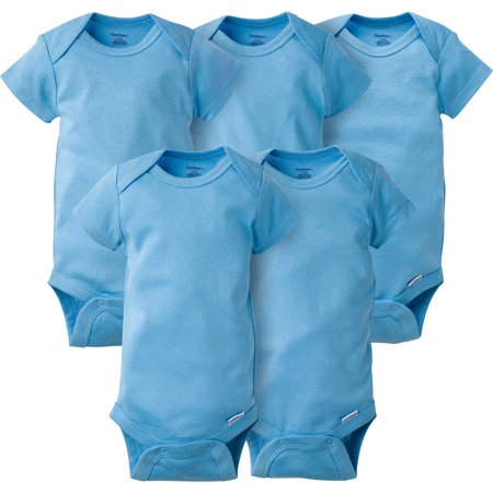 Newborn Baby Boy Short Sleeve Crafting Onesies Bodysuits, 5-pack