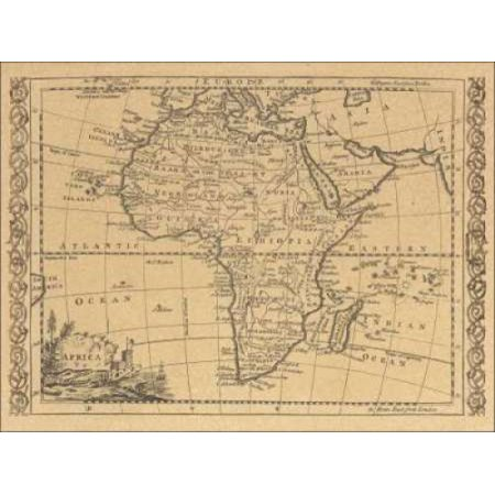 Africa 1800 Stretched Canvas - World Map (9 x 12) - Walmart.com