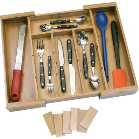 Lipper Bamboo Adjule Expandable Drawer Organizer With Six Dividers