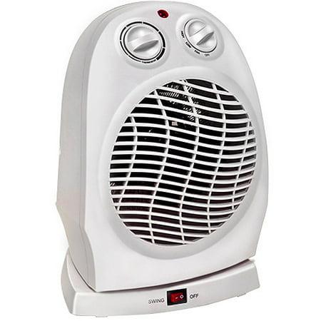 fan heater. comfort zone oscillating fan heater