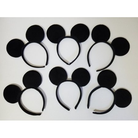 Wholesale Store Supply (LWS LA Wholesale Store  12 Mickey Mouse Plush Ears Headbands Minnie Party Supplies Costume)