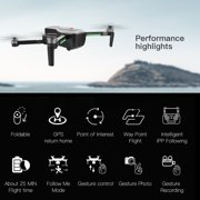 SG906 Brushless 4K Drone with Camera Handbag 5G Wifi FPV Foldable Optical Positioning Altitude Hold RC Quadcopter Drone with 2 Battery
