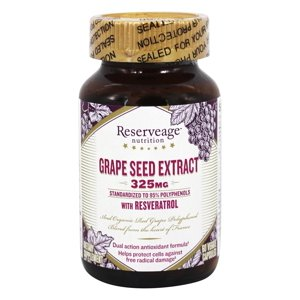 Reserveage Nutrition - Grape Seed Extract with Resveratrol 325 mg. - 60 Vegetarian Capsules