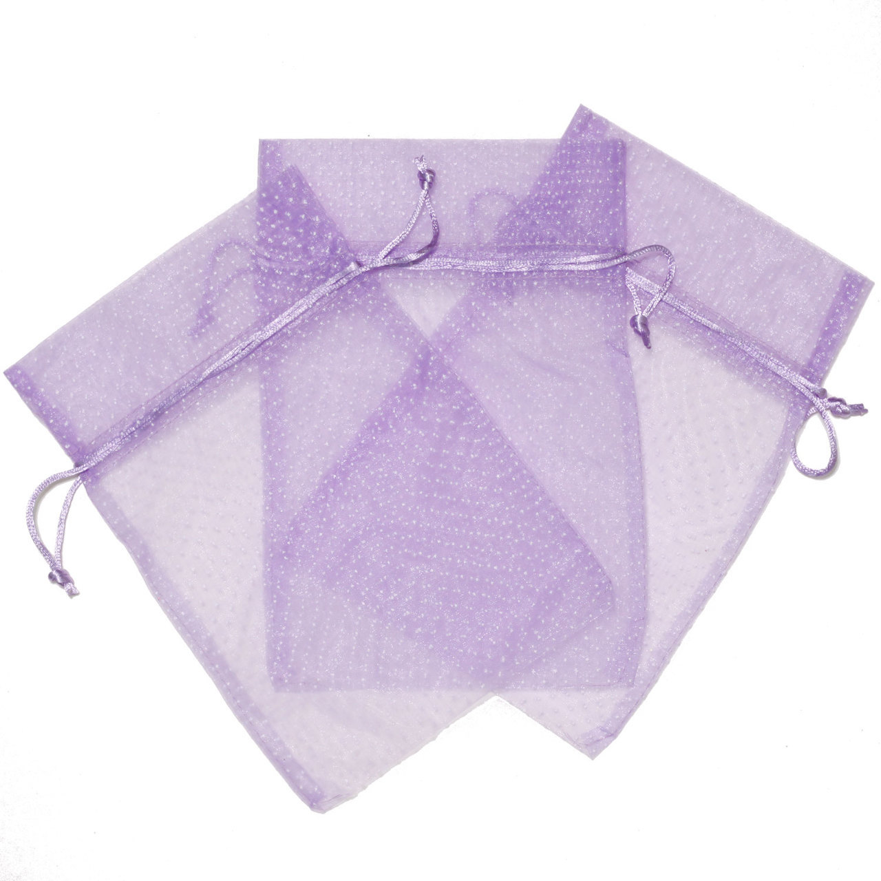 """Organza Purple Pink Polka Dot Gift Bags (9"""" x 5.5"""") Party Favor Fabric Baby Shower Birthday Treat Goody Bag"""