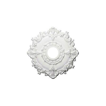 Ekena Millwork 18u0022OD x 3 1/2u0022ID x 1 1/2u0022P Riley Ceiling Medallion (Fits Canopies up to 4 5/8u0022)