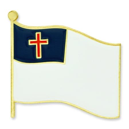 Christian Pins (Christian Flag Religious Enamel Lapel)