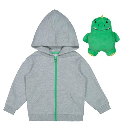 Wonder Nation Packable Plush Critter Zip Up Hoodie (Toddler Boys)