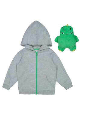 819a4f592a59 Product Image Packable Plush Critter Zip Up Hoodie (Toddler Boys)