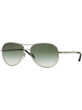 4132b6d9740 Product Image Burberry Sunglasses Sunglasses BE3082 1005 8E Silver Frame  Green Lens 57MM
