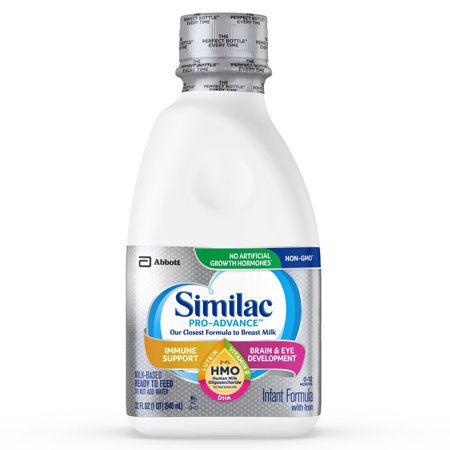 Similac Pro-Advance Non-GMO with 2'-FL HMO Infant Formula with Iron for Immune Support, Baby Formula 32 fl oz Bottles (Pack of 6)