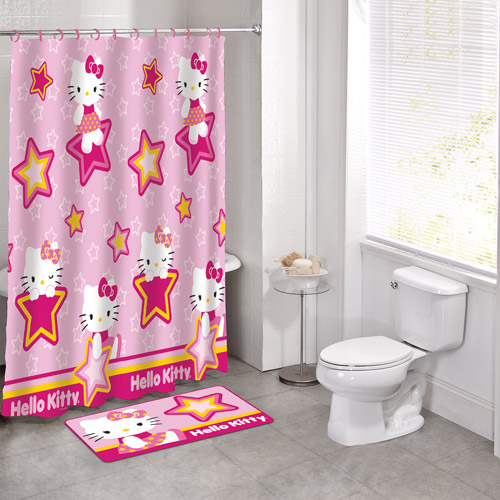 Beautiful Licensed 14pc Bath Set Hello Kitty