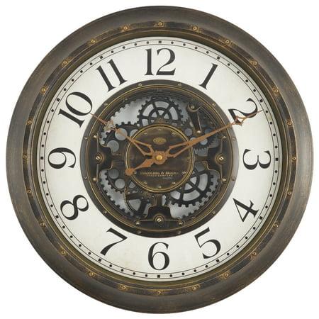 "Mainstays 15.5"" Gear Wall Clock"