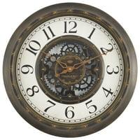 Deals on Mainstays 15.5-inch Gear Wall Clock