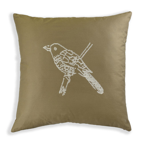 North Home Caroline Embroidered Cotton Throw Pillow